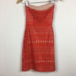 Free People Dresses - SOLD | FREE PEOPLE 'Oceanside' Crochet Mini Dress